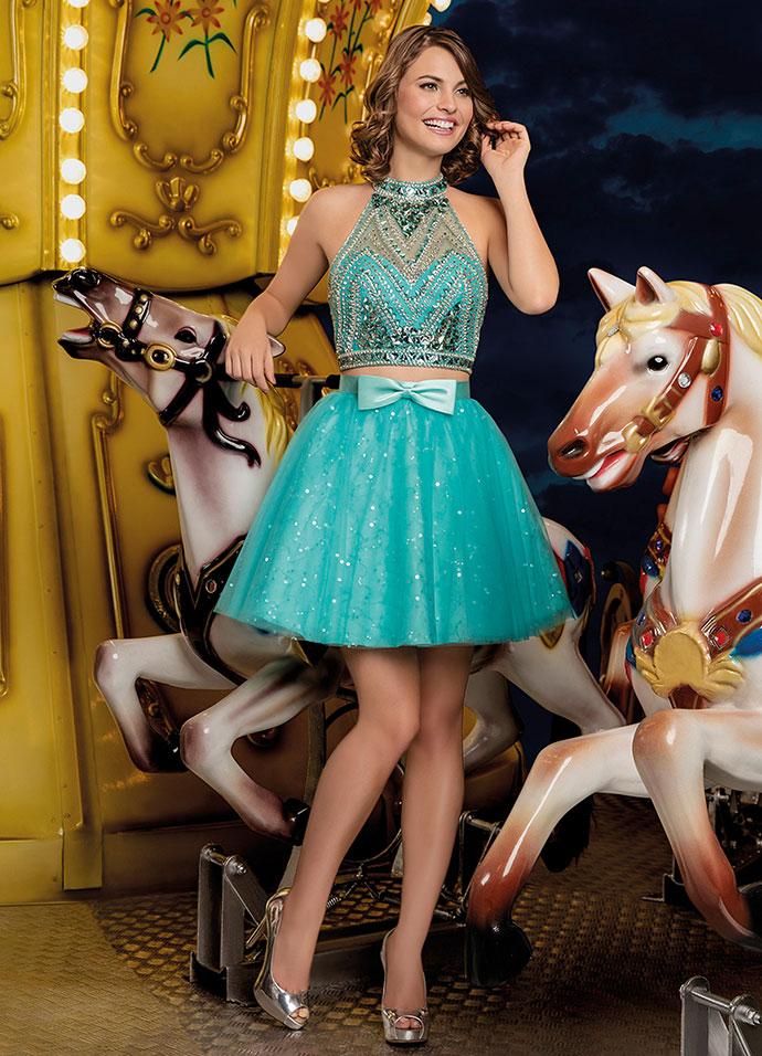 Vestido de Debutante 2 em 1 - Curto